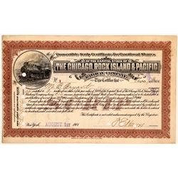 Chicago, Rock Island & Pacific Railway Co Scrip Certificate #1, 1901  (111139)