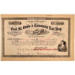 East St. Louis & Carondelet Rail Way Co Stock Certificate  (111265)