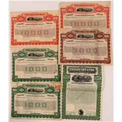 Six Chicago & Alton Railroad Co Gold Bonds, 1899-1926  (111228)