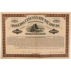 Toledo, Cincinnati and St. Louis Railroad Co. Bond  (112491)