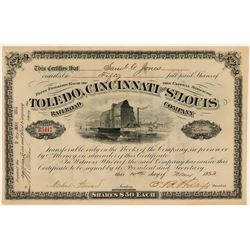 Toledo, Cincinnati and St. Louis Railroad Co. Stock  (112493)