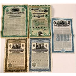 Group of 5 Terre Haute RR Bond from Two Railroads  (111287)