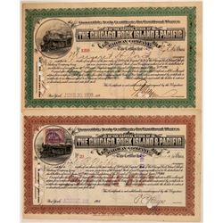 Chicago, Rock Island & Pacific Convertible Scrip Certificates (2)  (111217)