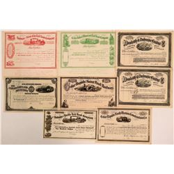Group of Unissued Iowa Railroad Stocks (8)  (111273)