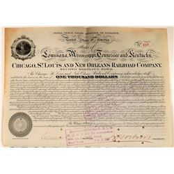 Chicago, St. Louis & New Orleans Railroad Co 2nd Mortgage Bond, 1877  (111131)