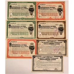 Baltimore & Ohio Southwestern Railway Certificate Group (7)  (111276)