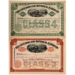 Concord & Montreal Railroad Stocks, Class 3 and Class 4 Shares  (111207)