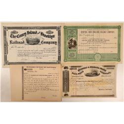 4 Scarcer Unissued New York Railroad Stocks  (111201)