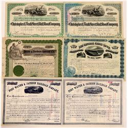 Nice Group of New York Railroad Stocks (6)  (111271)