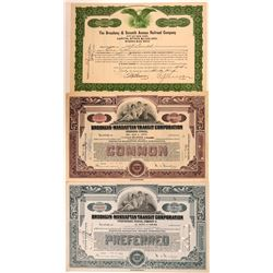 Three Brooklyn and Manhattan Railroad Stocks  (111160)