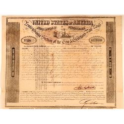Erie & Cleveland Rail Road Pennsylvania Section Bond Certificate, 1851  (111250)