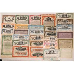 Erie, Pennsylvania Railroad Stocks and Bonds (29)  (111298)