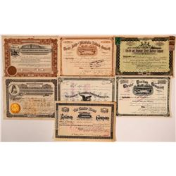 Nice Group of Pennsylvania Street Railway Stocks (7)  (111086)