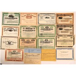 Pennsylvania Railroad Unissued Stock Certificates Group (17)  (111198)