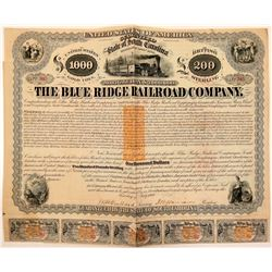 Blue Ridge Railroad Co Mortgage Loan Bond, 1869  (111137)