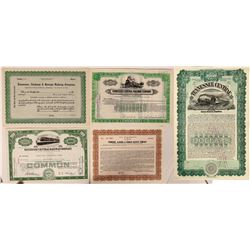 Tennessee  Railroad/Railway Co.stocks and bonds  (112499)