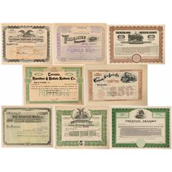 Illinois, W. Virginia, Canada, N.Y. and New Jersey RR stock  (112985)