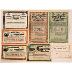 Nice Group of Eastern Unissued Railroads (6)  (111321)