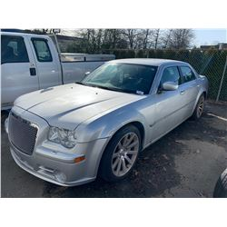 2006 CHRYSLER 300C SRT8, 4DR SEDAN, SILVER, VIN # 2C3LA73W06H496638