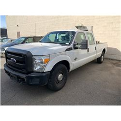 2011 FORD F-350 XL SUPERDUTY, 4DR PU, WHITE, VIN # 1FT8W3AT1BEC43589