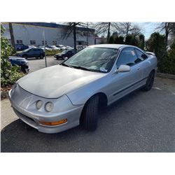 2000 ACURA INTEGRA, 2DR COUPE, GREY, VIN # JH4DC4442YS801993