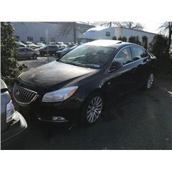 2011 BUICK REGAL CXL, 4DR SEDAN, PURPLE, VIN # W04GP5EC1B1137658