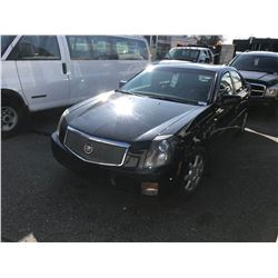2006 CADILLAC CTS, 4DR SEDAN, BLACK, VIN # 1G6DM57T060204974