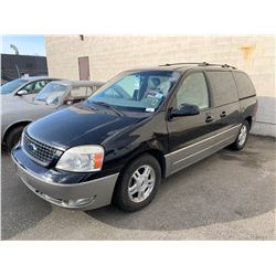 2004 FORD FREESTAR LIMITED, 4DR VAN, BLACK, VIN # 2FMDA58214BA05130