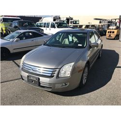 2008 FORD FUSION SEL, 4DR SEDAN, GREY, VIN # 3FAHP08138R258378