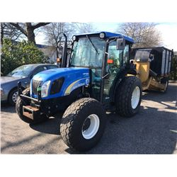 2011 NEW HOLLAND T4030 TRACTOR, VIN # ZAHA13743  WITH 5,551HRS, AC, RD, CD, TW, DIESEL,