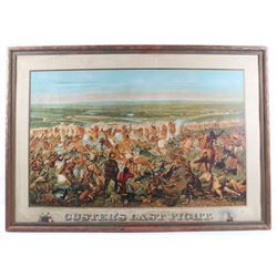 Original Anheuser-Busch Custer's Last Fight Litho