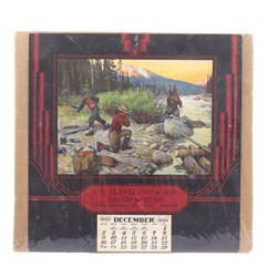 1934 Calendar  Bruin's Suprise  by Philip Goodwin
