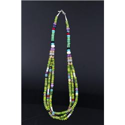 Navajo T. Singer Multi Stone Beaded Necklace