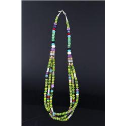 Navajo T. Singer Multi Stone Beaded Necklace