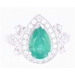 Luxury Emerald & Diamond Platinum Ring
