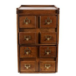 Antique Quarter Sawn Oak Stacking Filing Cabinet
