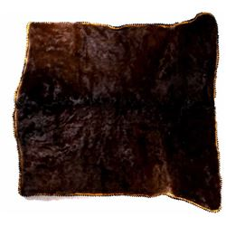 Antique Stagecoach Cow Hide Lap Blanket