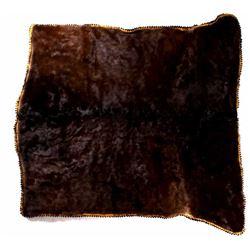 Antique Stagecoach Cow Hide Lap Blanket