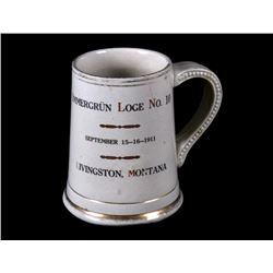 1911 Livingston, MT Immergrun Loge No. 10 Stein