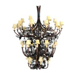 Mountain Pine Cone 4-Tier Chandelier by Berry Bate