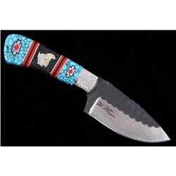 Navajo Dave Yellowhorse Turquoise Eagle Knife