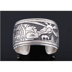 Navajo Thomas Singer Sterling Silver Bracelet
