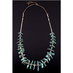 Navajo Lone Mountain Turquoise & Heishi Necklace