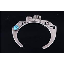 Navajo Silver Southwest Pueblo Village Bracelet