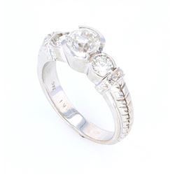 1920's Art Deco 1.45 ct. Diamond 18K Gold Ring