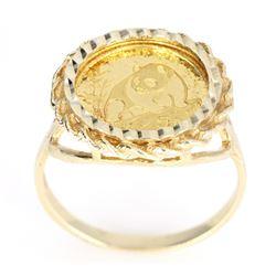 1990 Chinese 1/20 oz .999 Gold 5 Yuan Ring