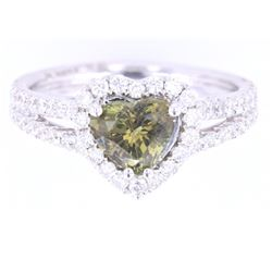 Color Change Alexandrite & VS2 Diamond 18K Ring
