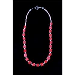 Navajo Branch Coral & Spiny Oyster Necklace