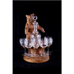 Early 19th Swiss Black Forest Crystal Decanter Set