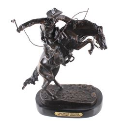 Bronco Buster Bronze Statue by Frederic Remington